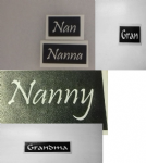 1 - 100  x Grandma word stencil mix  for etching on glass   Nanna Nan Nanny Grandma